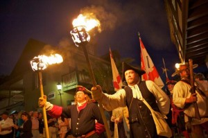grand muster and torch light parade